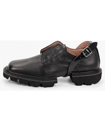 Черные кожаные ботинки Graciana