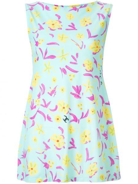 Нейлоновое платье винтажное без рукавов с вырезом Chanel Pre-owned