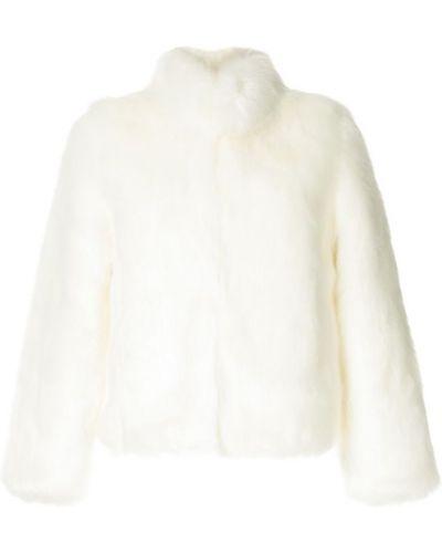 Белая длинная шуба из искусственного меха Unreal Fur