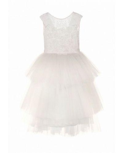 Платье на торжество бежевое Love Story