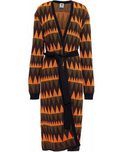 Оранжевое пальто с карманами M Missoni