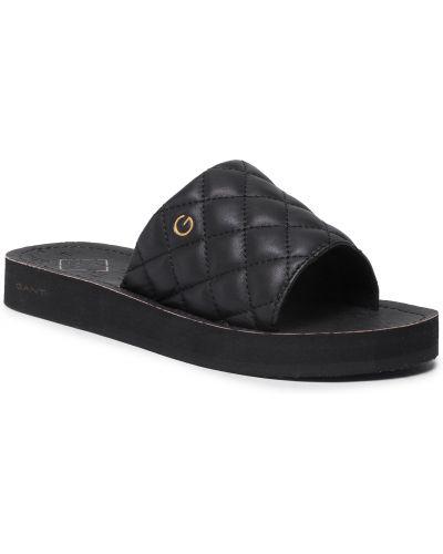 Czarne sandały casual Gant