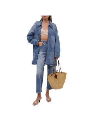 Джинсовая куртка на молнии - голубая Mm6