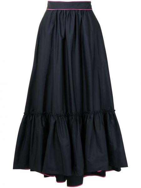 Niebieska spódnica maxi z wysokim stanem bawełniana Roksanda
