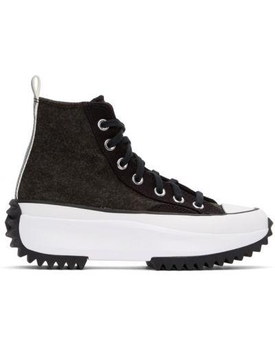 Кожаный черный кружевной топ Converse