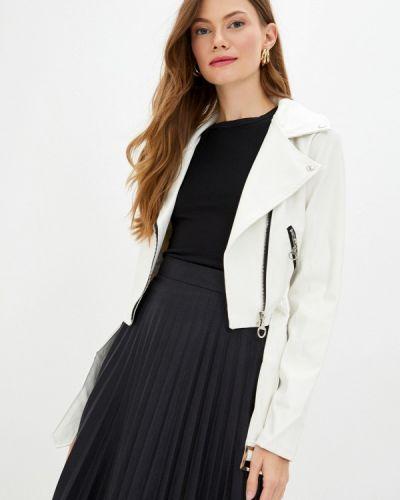 Кожаная белая кожаная куртка Defacto