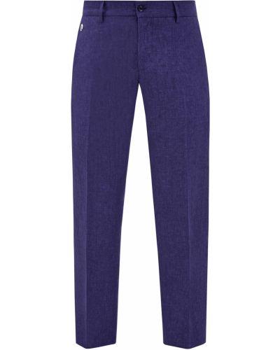 Повседневные синие брюки с накладными карманами Bertolo Cashmere