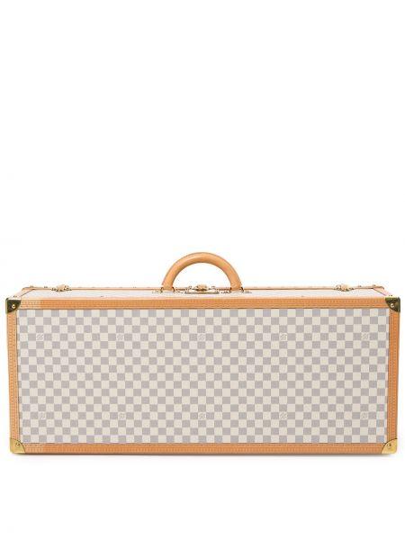 Кожаный белый чемодан круглый Louis Vuitton