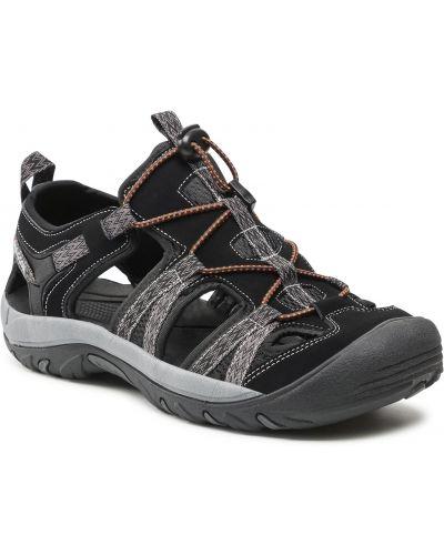 Czarne sandały na lato Bergson