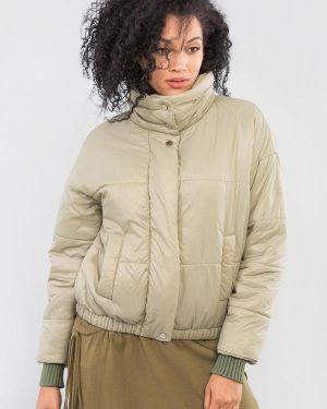 Теплая утепленная куртка хаки Maxa