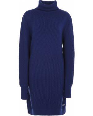 Шерстяное платье макси - синее Paul&shark