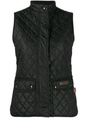 Черная жилетка с карманами без рукавов Belstaff