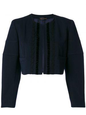 Шерстяная синяя короткая куртка винтажная Comme Des Garçons Pre-owned