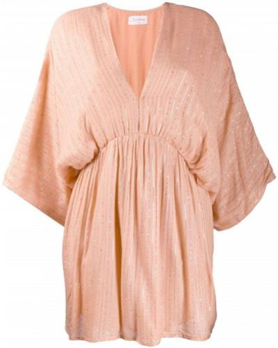 Бежевое платье мини свободного кроя на молнии Sundress