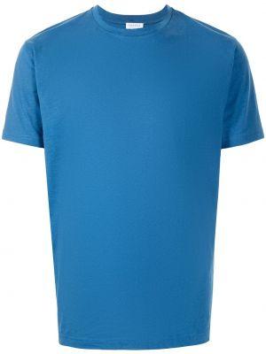 Синяя хлопковая футболка Sunspel