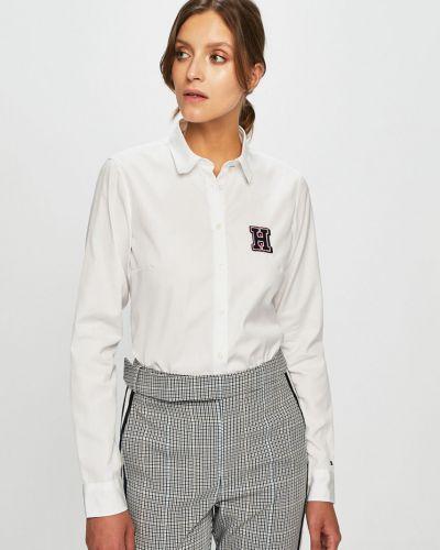 Блузка с длинным рукавом однотонная с вышивкой Tommy Hilfiger