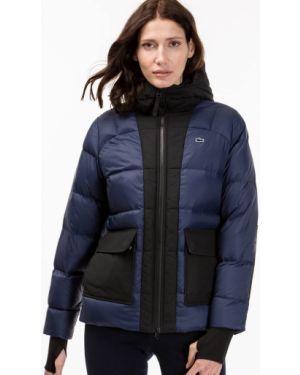 Куртка с перьями синий Lacoste