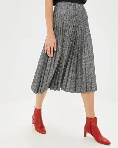 Плиссированная юбка итальянский серая Rinascimento