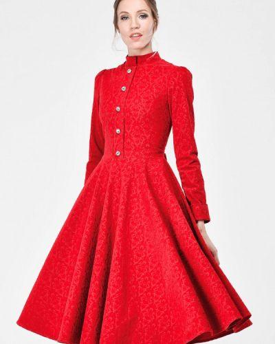 Вечернее платье красный осеннее Alisia Fiori