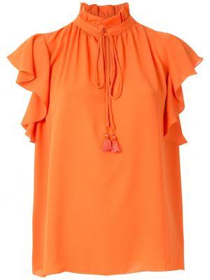 Блузка с воланами - оранжевая Olympiah