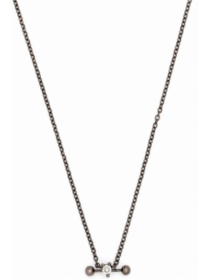 Złoty naszyjnik łańcuch - biały Delfina Delettrez