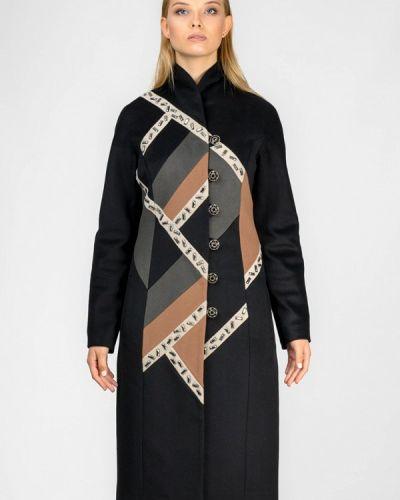 Черное пальто с капюшоном Raslov