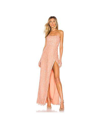 Вечернее платье персиковое шелковое Nbd