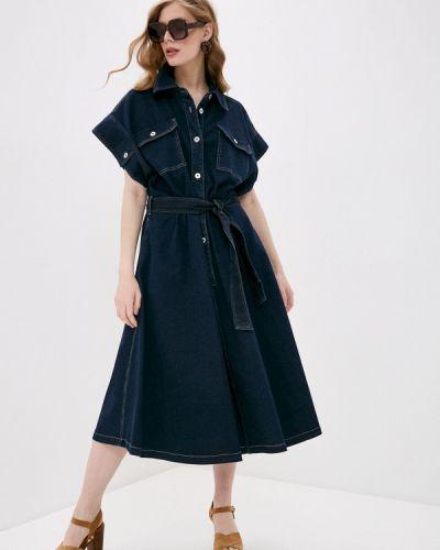 Синее джинсовое платье Twinset Milano