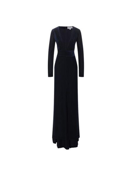 Платье макси с декольте с поясом Galvan  London
