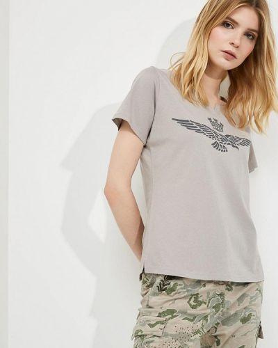 Серая футболка Aeronautica Militare
