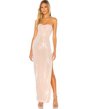 Вечернее платье с декольте шелковое Nbd