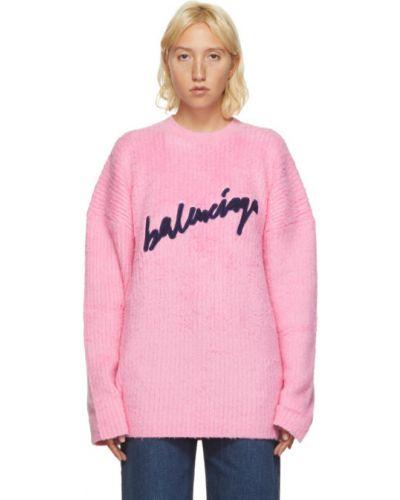 Długi sweter, różowy Balenciaga