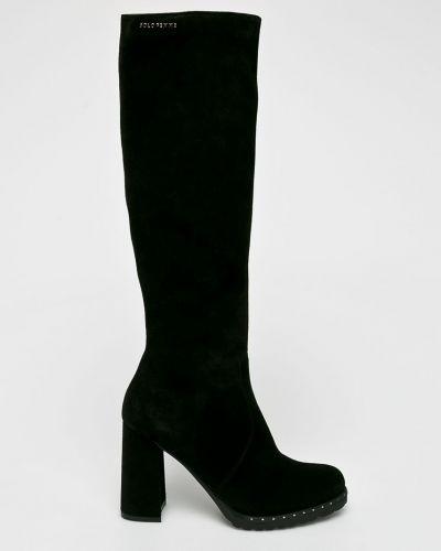 Ботинки на каблуке на каблуке замшевые Solo Femme