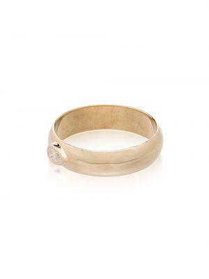 Кольцо золотое с бриллиантом без застежки Zoë Chicco