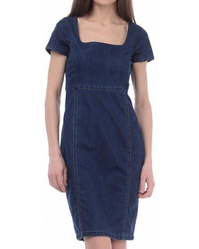 Хлопковое платье - синее Armani Jeans