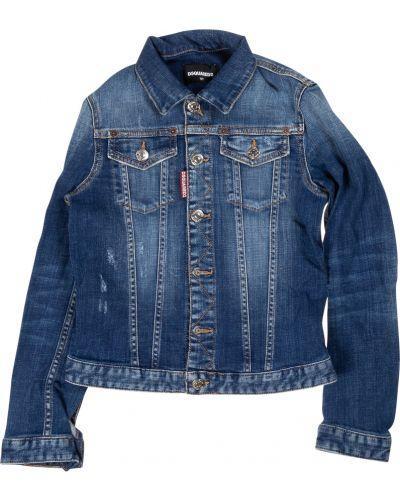 Niebieska kurtka jeansowa Dsquared2