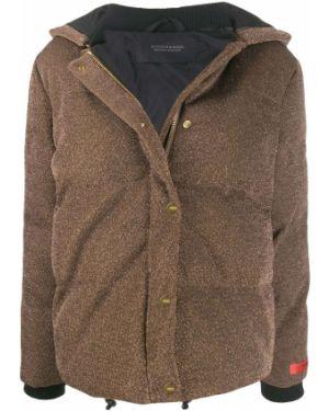 Куртка с капюшоном мятная с манжетами в рубчик Scotch & Soda