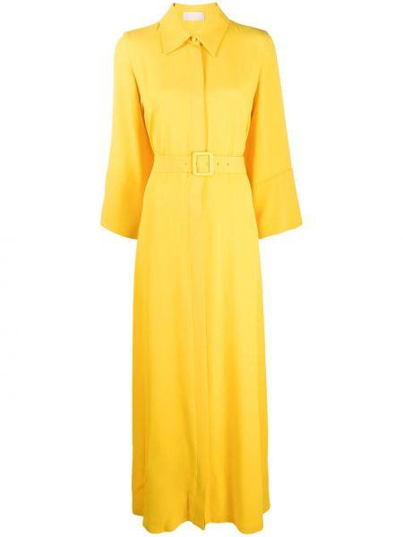 Платье с поясом футболка на пуговицах Sara Battaglia