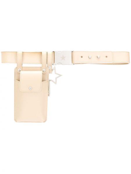 Кожаный ремень на кнопках с карманами с подвесками Lorena Antoniazzi