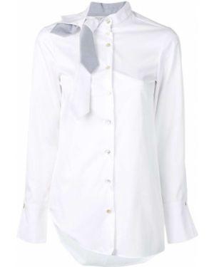 Однобортная рубашка на пуговицах Balossa White Shirt
