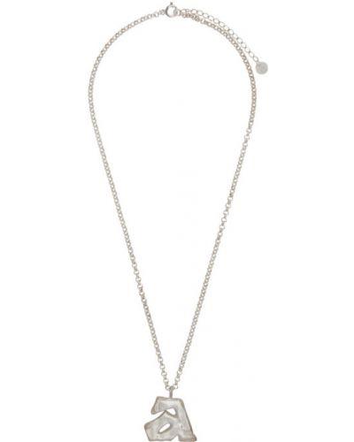 Серебряное ожерелье Ader Error