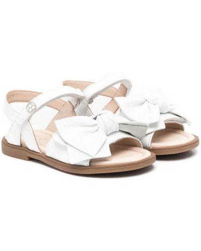 Белые кожаные сандалии с бантом Florens