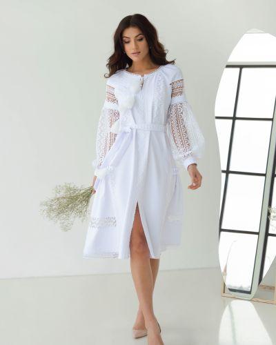 Кружевное вечернее платье - белое Odis