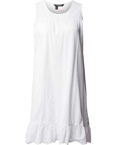 Biała koszula nocna bawełniana w paski Lauren Ralph Lauren