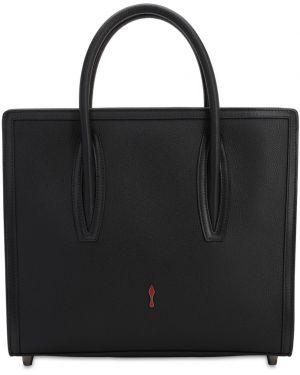 Кожаная сумка с ручками с логотипом Christian Louboutin