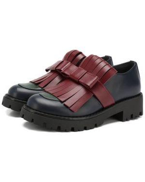 Туфли с бантом кожаные Marni