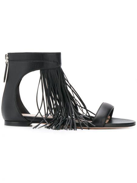 Sandały czarne królowe Alexander Mcqueen
