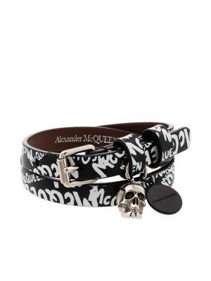 Bransoletka skórzana - biała Alexander Mcqueen