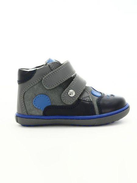 Кожаные кроссовки - серые Bartek