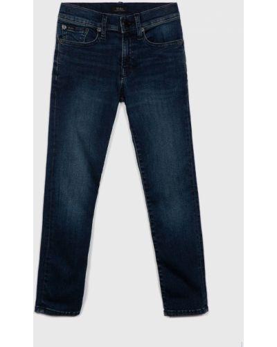 Кожаные синие облегающие джинсы Polo Ralph Lauren